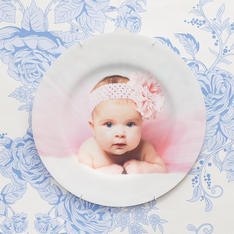 Baby photo decorative plate wall hanging