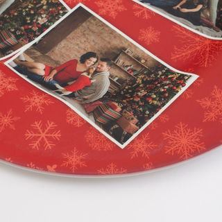 Close up of platter design Christmas