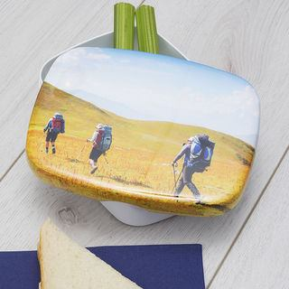 hiking lunch box design with healthy snacks