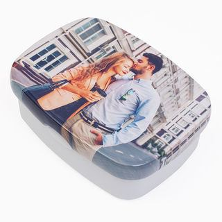 Couple's lunchbox photo print wrap image