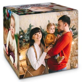 Photo de famille sur cube personnalisable