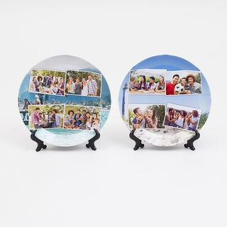 Kids plastic plates display stands