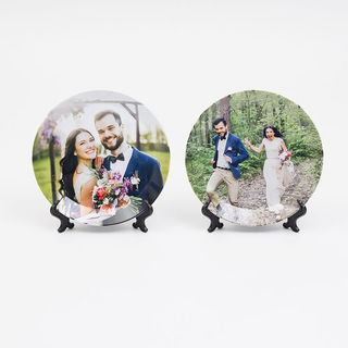 Wedding printed party plates design