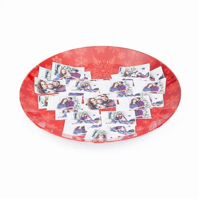 weihnachtsteller mit collage bedrucken lassen