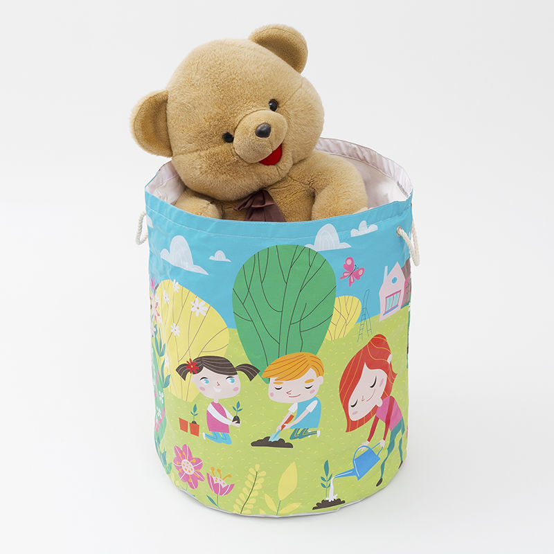 Sack Of Toys : Personalised toy sack custom printed fabric bag
