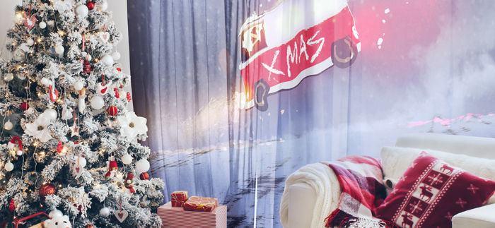 Rideau personnalisé pour Noël