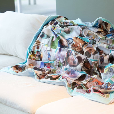 snuggle blanket personalised with your photos