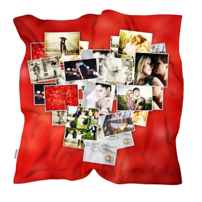 Heart collage blanket personalised online