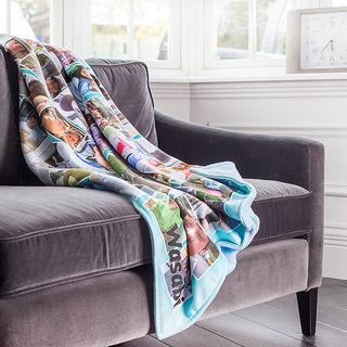 photo collage blanket
