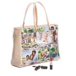 borsa personalizzabile con foto collage
