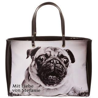 Handtasche selbst gestalten mit Foto und Text hund