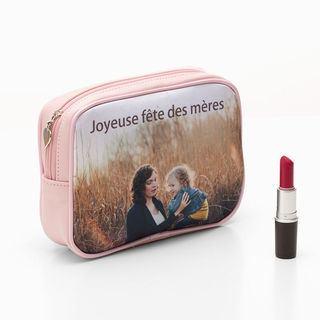Trousse à maquillage personnalisable pour fête des mères