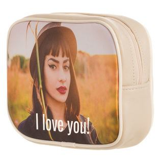 photo vinyl make-up bag