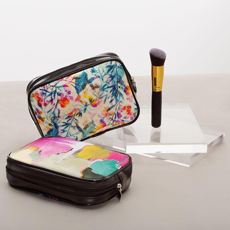 Trousse à maquillage imprimée en couleur
