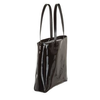 Beach bag black Vinyl reverse side
