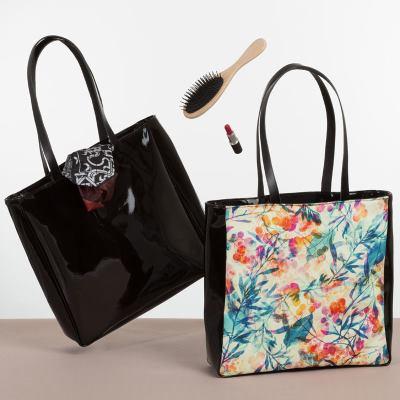 bolsa de compras de piel