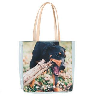 pet photo shopper bag