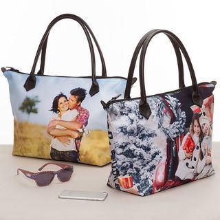 Custom Zip Top Handbag Collage