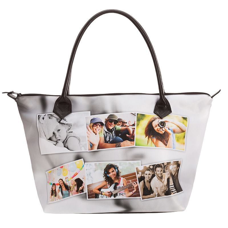 large zip top tote bag custom printed zip top tote with photos. Black Bedroom Furniture Sets. Home Design Ideas