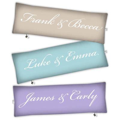 personaliased wedding cushion