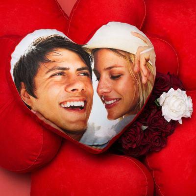 gepersonaliseerde hart kussens