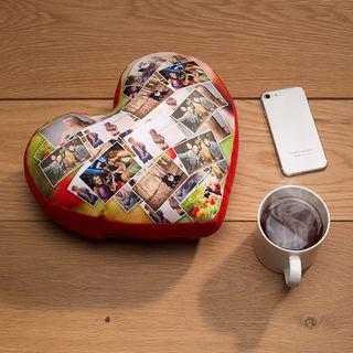 cuscino cuore con foto