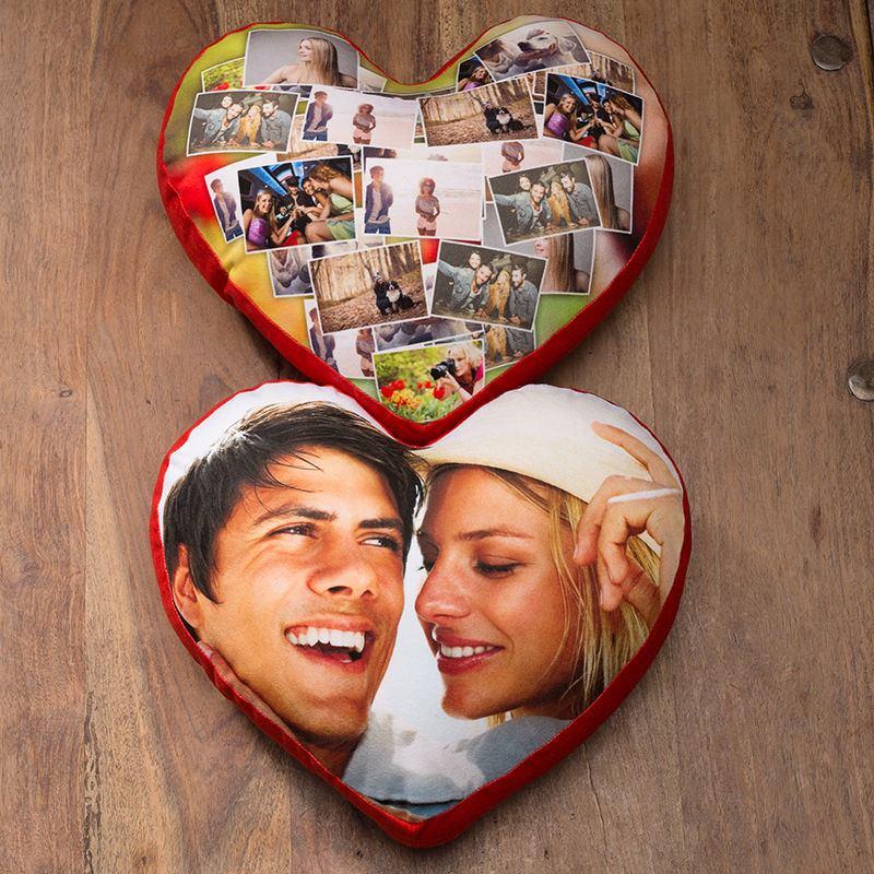 Préférence Coussin en forme de coeur | Coussin coeur personnalisé avec photos OQ02