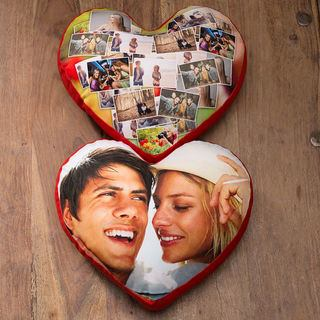 create a set of love heart cushions for him and her