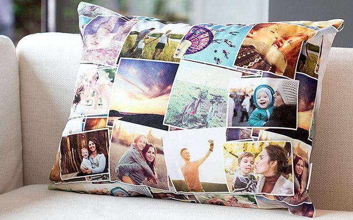 ropa de cama personalizada de cojines con fotos