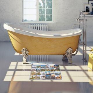 tappetino da doccia personalizzato con collage di foto