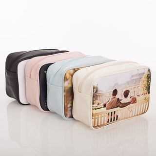 Printed Leather Vinyl wash bags colours