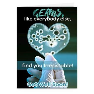 Germs Card Get well soon