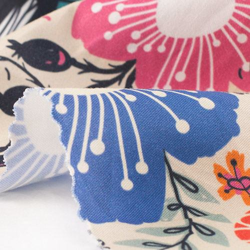 impresión textil sarga algodón