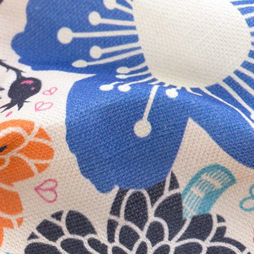 Impression sur coton lin