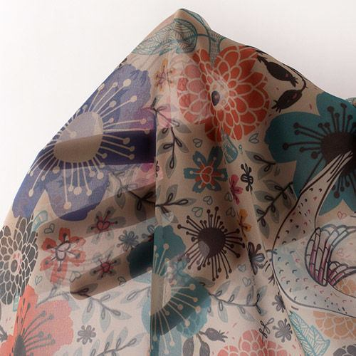 printed silk Georgette fabric uk