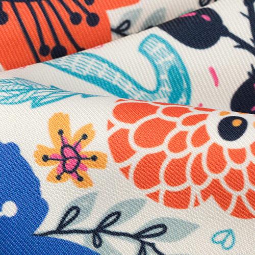 custom fabric for ottoman