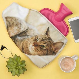 stampa copri borsa acqua calda foto gatto