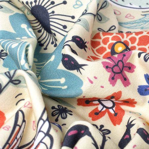 Impression sur tissu Jersey coton stretch