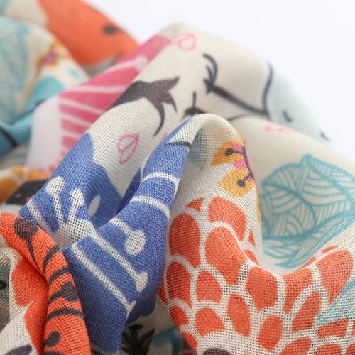 custom muslin fabric printing