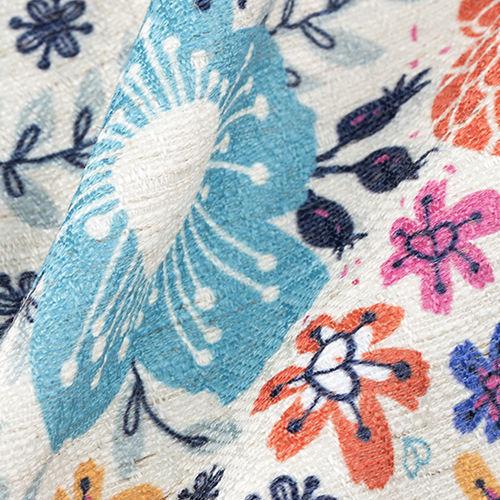 Linblandad textil på metervara