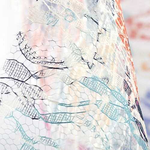 lace lucille fabric printing