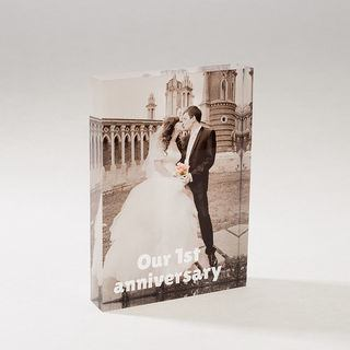personalised anniversary wedding acrylic block