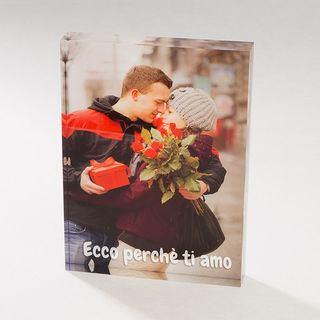 foto su vetro acrilico cornice romantica