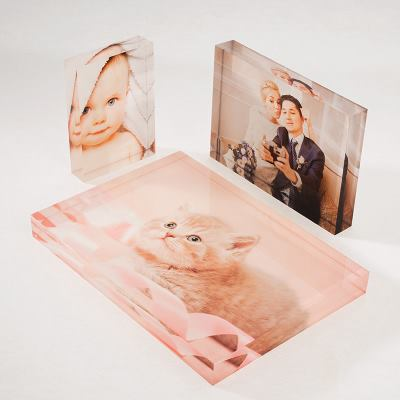 drie halen twee betalen acryl foto blokken
