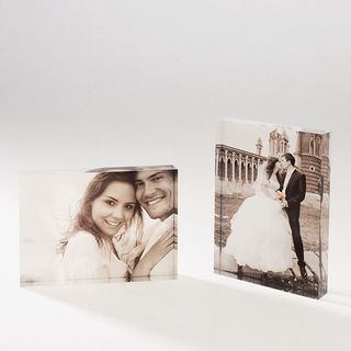 photo printed on acrylic block