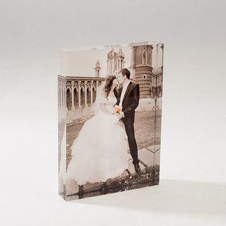 stampa di foto su vetro acrilico sposi