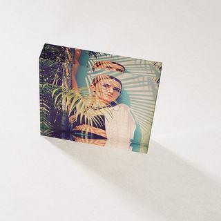 stampa su cornice in vetro acrilico donna