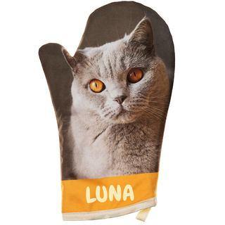 guanti da cucina personalizzati con foto gatto