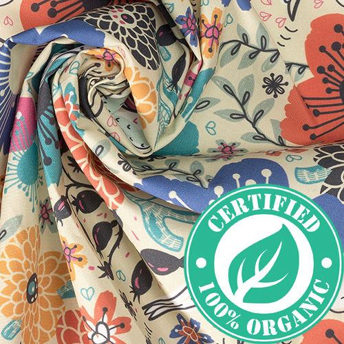 poplin algodón orgánico personalizado
