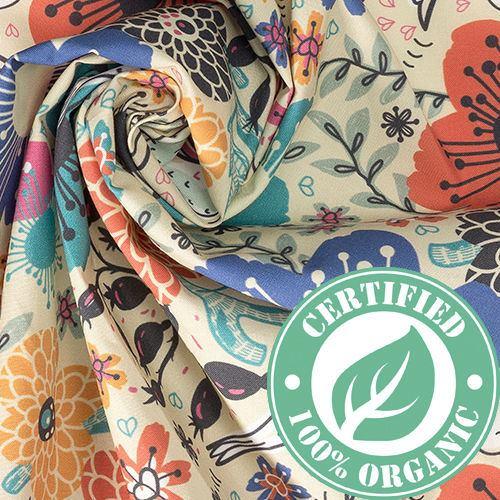 Organische Halbpanama Baumwolle bedrucken